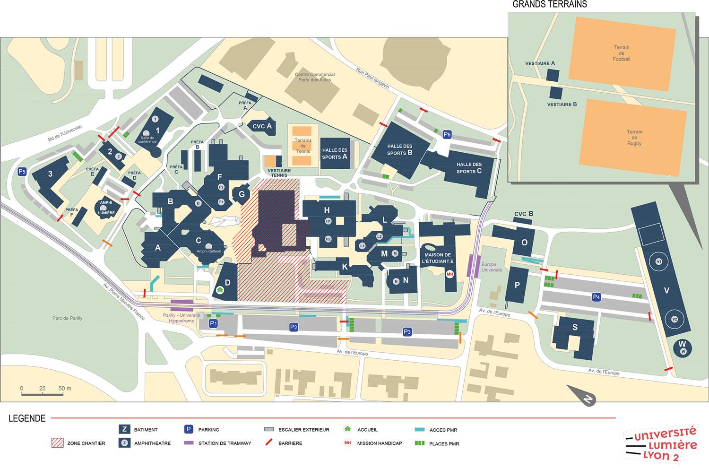 Plan du Campus Porte des Alpes